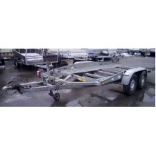 Прицеп двухосный для перевозки авто Boeckmann AT27 с тормозом наката №23
