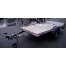 Прицеп лафет для квадроцикла и багги Humbaur KFT 1500 с тормозом наката и заездными рейками 1,65 м №14
