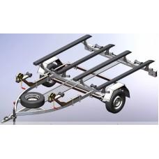 Прицеп для перевозки 2 гидроциклов Кияшко 42PL1104G
